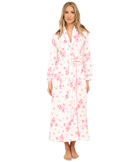 Carole Hochman - Diamond Quilted Floral Robe (Cascading Floral) Women's Robe
