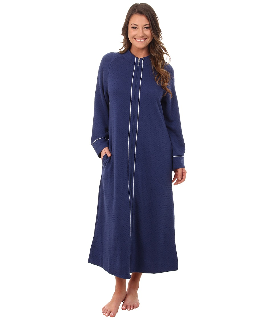 Carole Hochman - Zip Robe (Navy) Women's Robe
