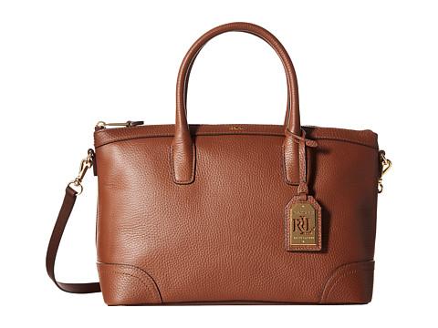 LAUREN by Ralph Lauren - Fairfield Satchel (Bourbon) Satchel Handbags