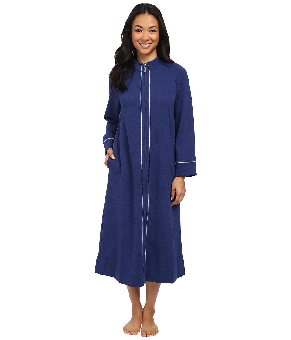Carole Hochman - Petite Zip Robe (Navy) Women