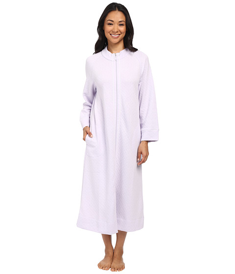 Carole Hochman - Petite Zip Robe (Lavender Fog) Women