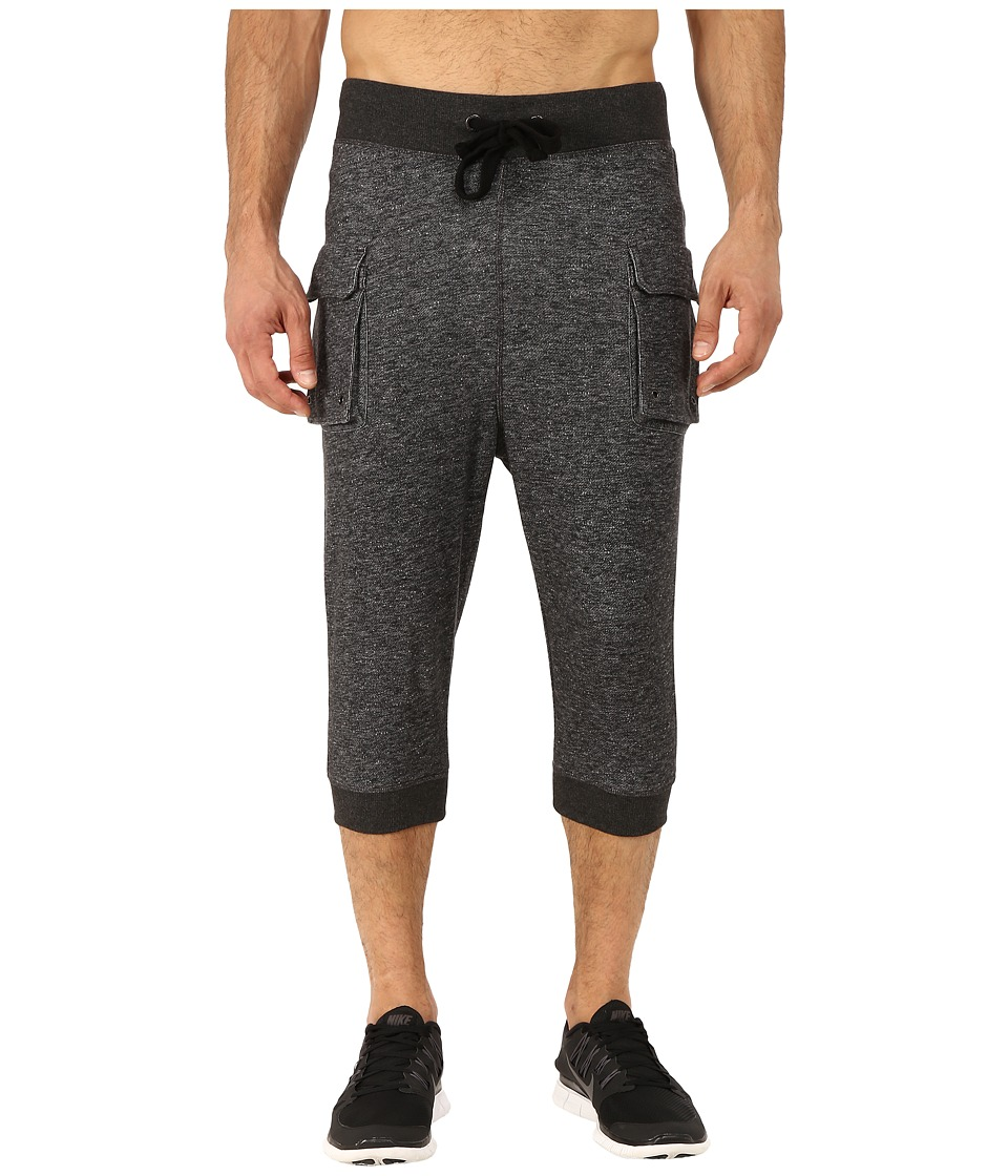 2(X)IST - Athleisure - Active Core Cargo Cropped Pants (Black Heather) Men's Casual Pants