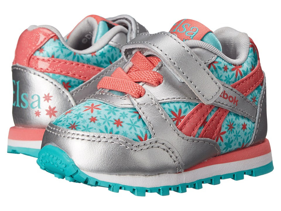 Reebok Kids - Frozen Elsa Runner (Infant/Toddler) (Silver Metallic/Crystal Blue/Aqua Faze/White/Victory Pink) Girls Shoes