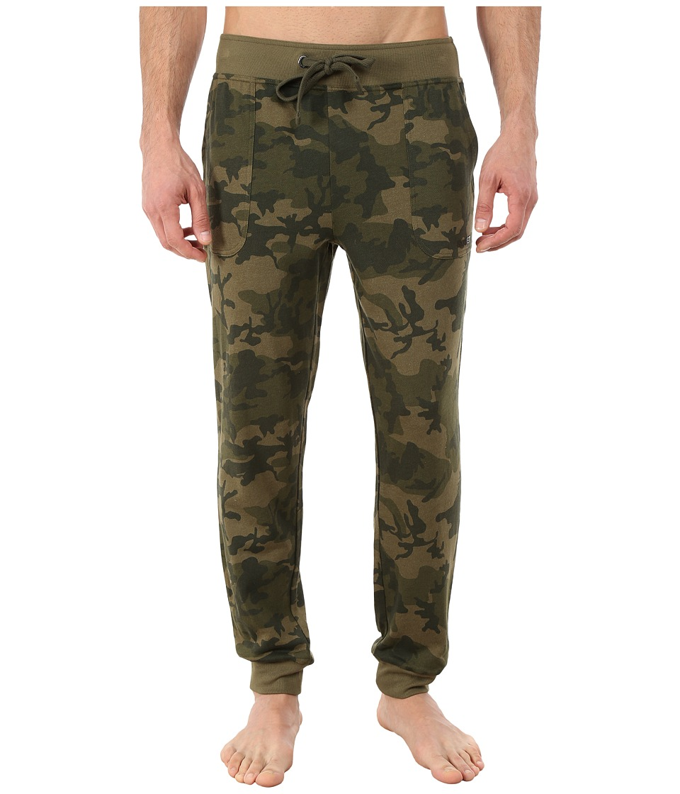 2(X)IST - Core Terry Sweatpant (Olive Camo) Men's Casual Pants
