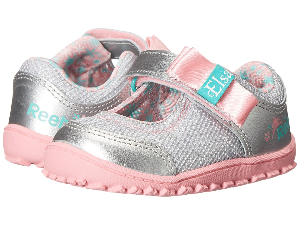 Reebok Kids - Elsa Ventureflex MJ (Infant/Toddler) (Silver Metallic/Pixie Pink/Aqua Faze/Crystal Blue) Girls Shoes