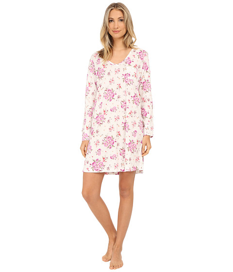Carole Hochman - Packaged Key Item Sleepshirt (Brush Roses/Ivory) Women
