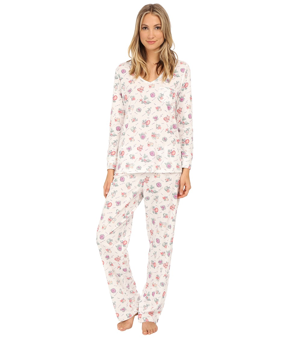 Carole Hochman - Packaged Key Item Pajama (Autumn Market/Ivory) Women's Pajama Sets