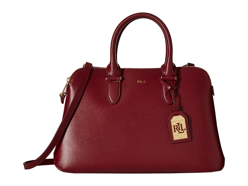 LAUREN Ralph Lauren - Newbury Double Zip Dome (Rosewood) Handbags