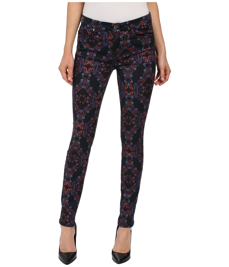 7 For All Mankind - The Mid Rise Skinny w/ Contour Waistband in Radiant Stained Glass (Radiant Stained Glass) Women's Jeans