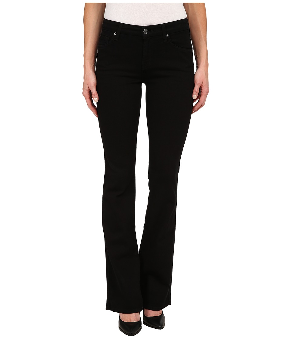 7 For All Mankind - Kimmie Bootcut in Washed Overdye Black (Washed Overdye Black) Women's Jeans
