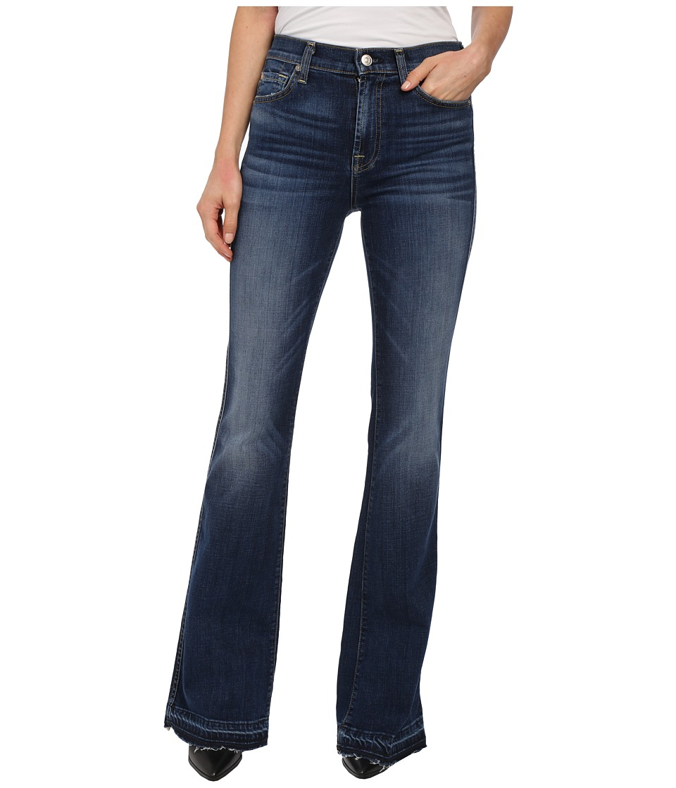 7 For All Mankind - High Waist Vintage Bootcut w/ Released Hem in La Palma Blue (La Palma Blue) Women
