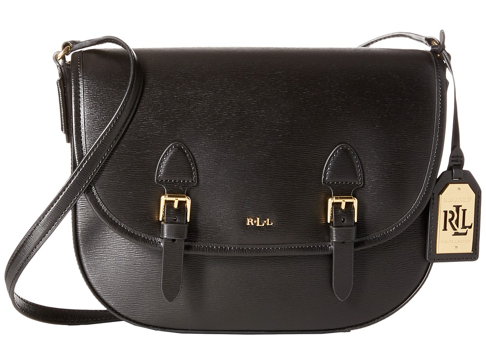 LAUREN Ralph Lauren - Tate Messenger (Black/Black) Messenger Bags