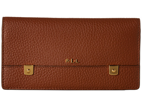 LAUREN by Ralph Lauren - Morrison Slim Wallet (Bourbon) Wallet Handbags