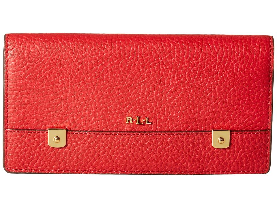 LAUREN Ralph Lauren - Morrison Slim Wallet (Fall Red) Wallet Handbags