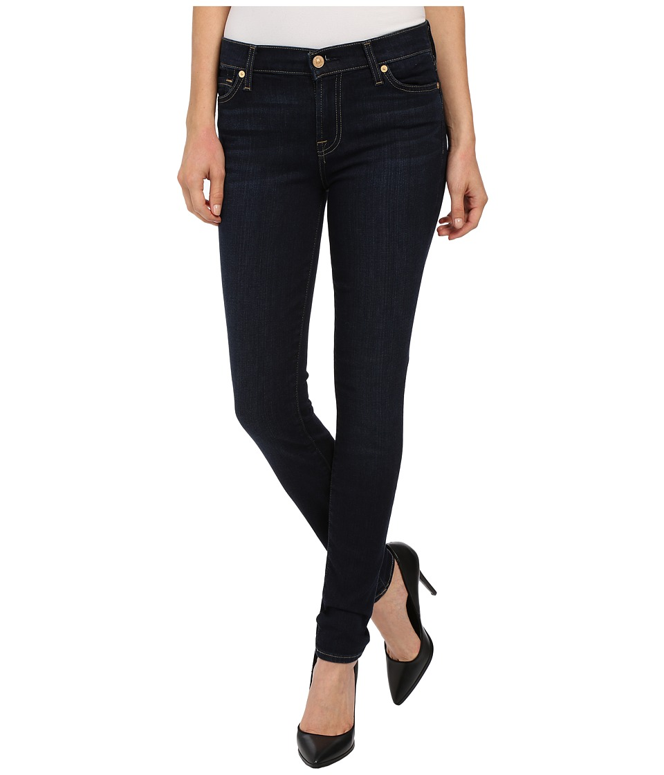 7 For All Mankind - The Skinny w/ Squiggle in Dark Dusk Indigo (Dark Dusk Indigo) Women