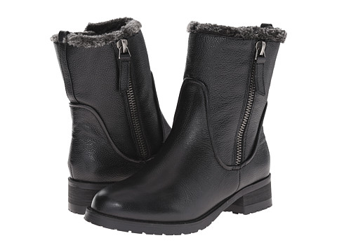 Steven - Cozy (Black Leather) Women's Zip Boots
