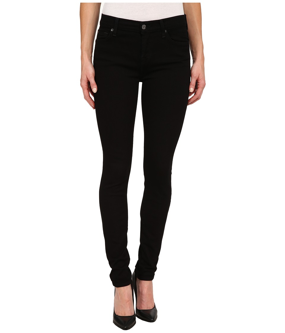 7 For All Mankind - The Skinny w/ Squiggle in Washed Overdye Black (Washed Overdye Black) Women's Jeans