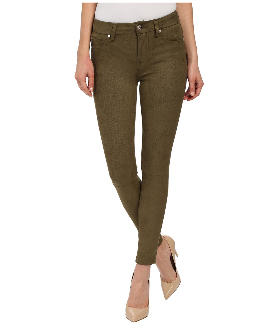 7 For All Mankind - High Waist Ankle Knee Seam Skinny in Olive (Olive) Women