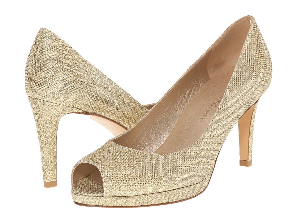 Stuart Weitzman Annamimic (Gold Noir) High Heels