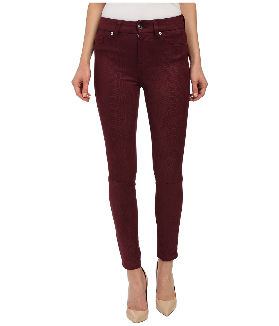 7 For All Mankind - High Waist Ankle Knee Seam Skinny in Merlot (Merlot) Women's Jeans