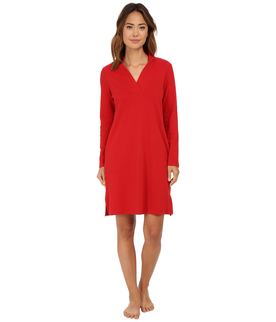 LAUREN Ralph Lauren - Short Lounger with Pockets (Holiday Red) Women's Pajama