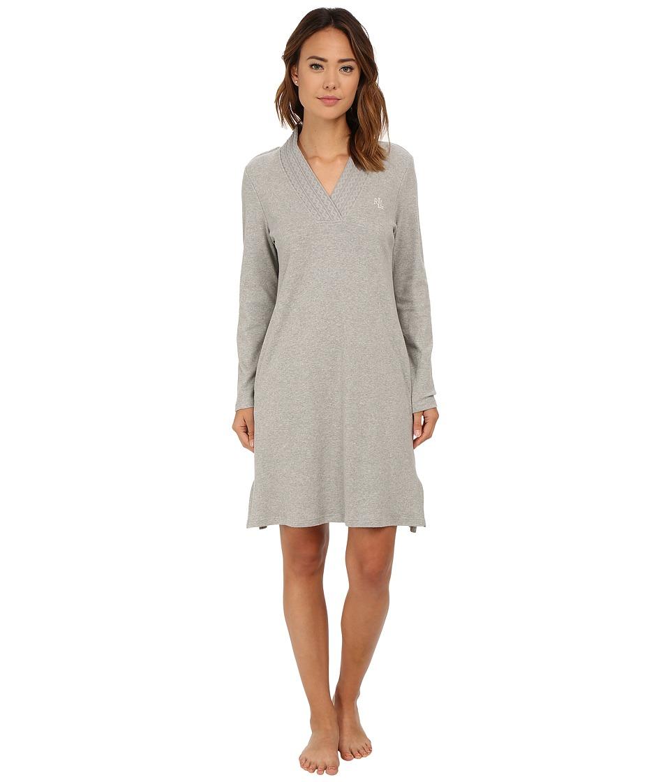LAUREN Ralph Lauren - Short Lounger with Pockets (Grey Heather) Women's Pajama
