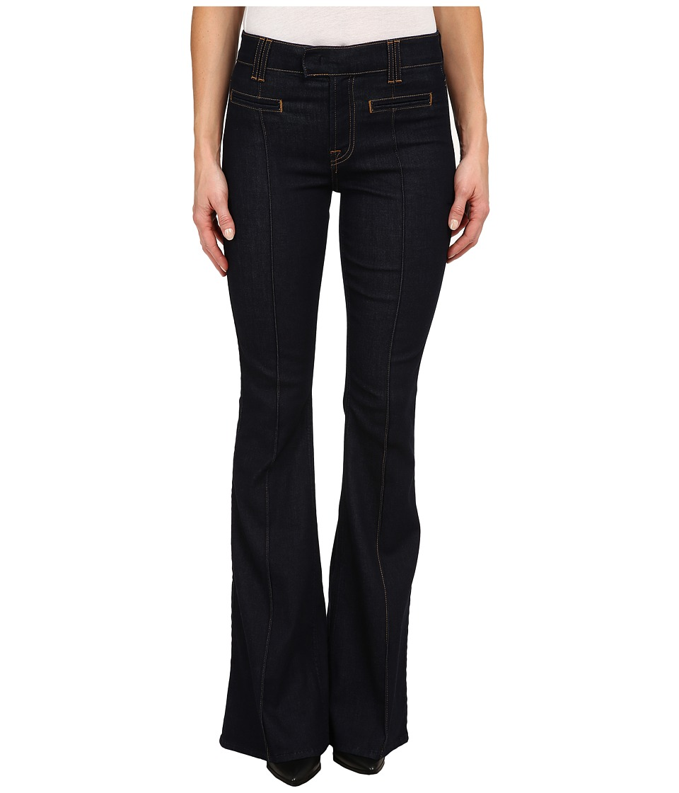 7 For All Mankind - The Pintuck Trousers in True Rinsed (True Rinsed) Women's Casual Pants