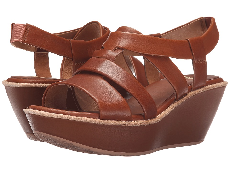 Camper - Damas - K200080 (Medium Brown) Women's Wedge Shoes