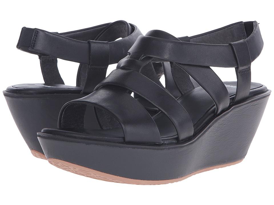 Camper - Damas - K200080 (Black) Women's Wedge Shoes