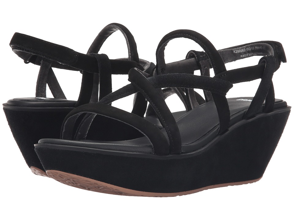 Camper - Damas - K200082 (Black) Women's Wedge Shoes