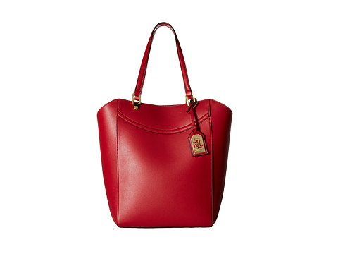 LAUREN by Ralph Lauren - Lexington Tote (Fall Red) Tote Handbags