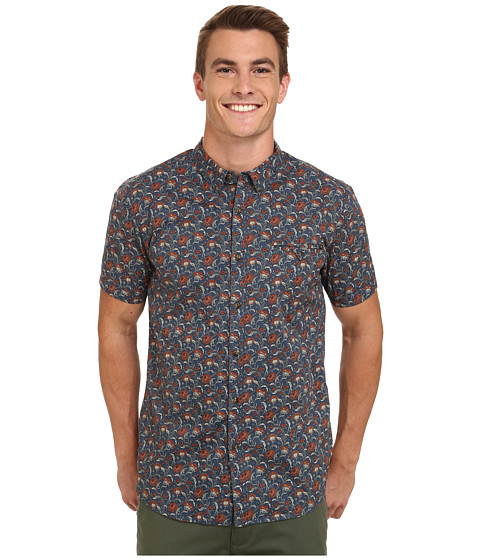 Rip Curl - Flower Field Short Sleeve Shirt (Denim Blue) Men's Clothing