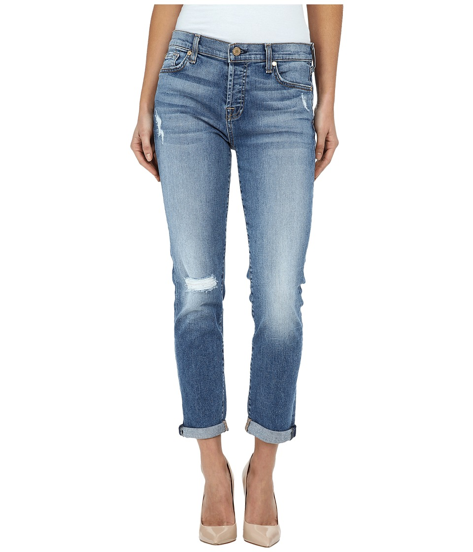 7 For All Mankind - Josefina w/ Destroy in Ibiza Island Indigo 2 (Ibiza Island Indigo 2) Women's Jeans