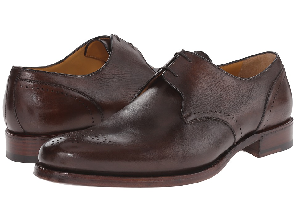 a. testoni - Delave Calf Decorative Toe Oxford (Moro) Men