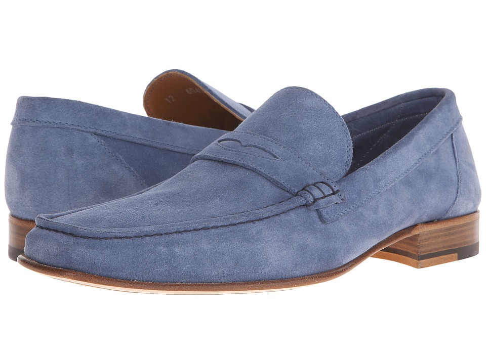 a. testoni - Unlined Suede Penny Loafer (Jeans) Men