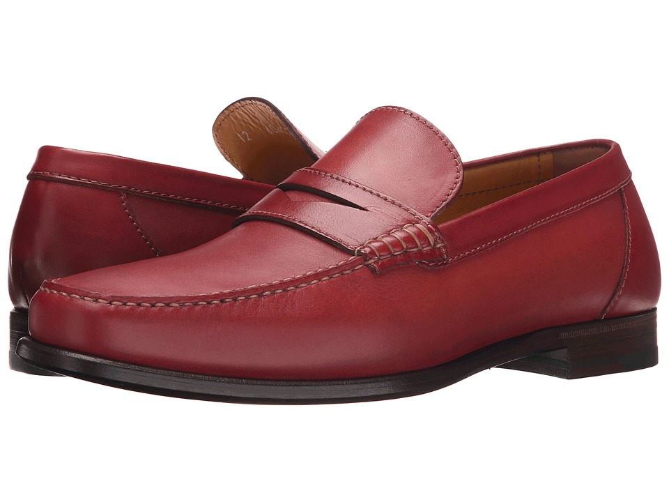 a. testoni - Plain Calf Penny Loafer Mocassin (Pompei) Men's Slip on Shoes