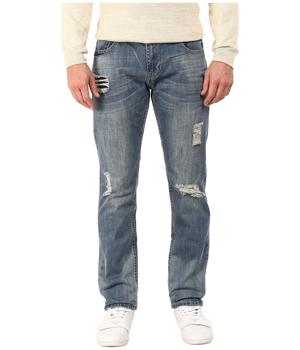 Seven7 Jeans - Distressed Skinny Jeans in Pacific Blue (Pacific Blue) Men's Jeans