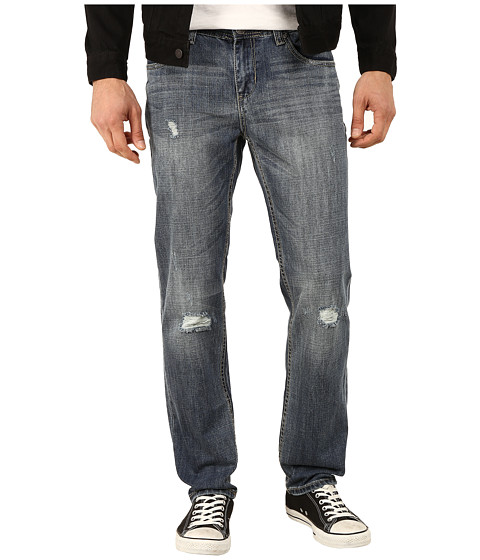 Seven7 Jeans - Distressed Slim Leg Jeans in Omega Blue (Omega Blue) Men