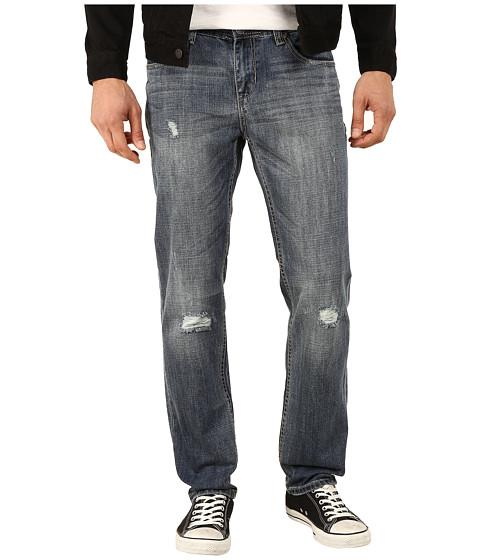 Seven7 Jeans - Distressed Slim Leg Jeans in Omega Blue (Omega Blue) Men's Jeans