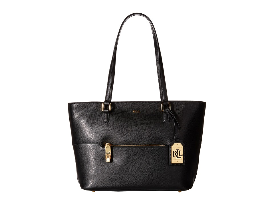 LAUREN Ralph Lauren - Whitby Pocket Shopper (Black) Handbags
