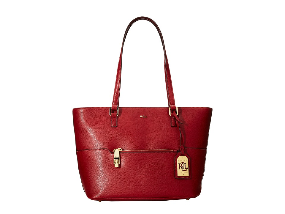 LAUREN by Ralph Lauren - Whitby Pocket Shopper (Fall Red) Handbags
