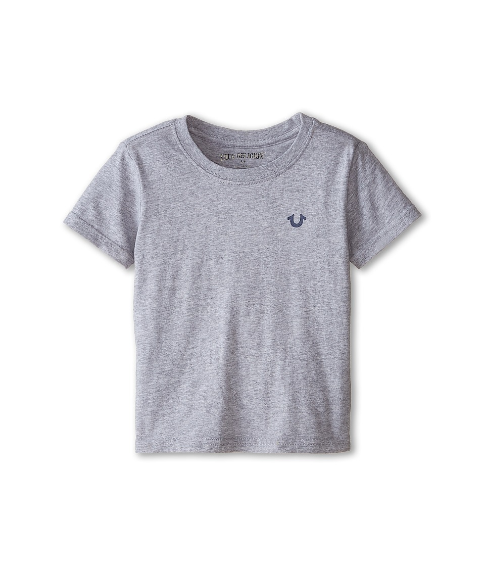 True Religion Kids - Branded Logo Tee (Toddler/Little Kids) (Heather Grey) Boy