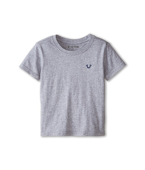 True Religion Kids - Branded Logo Tee (Toddler/Little Kids) (Heather Grey) Boy's T Shirt
