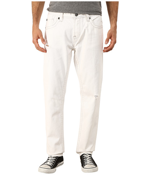Seven7 Jeans - Distressed Slim Leg Jeans in Baine White (Baine White) Men