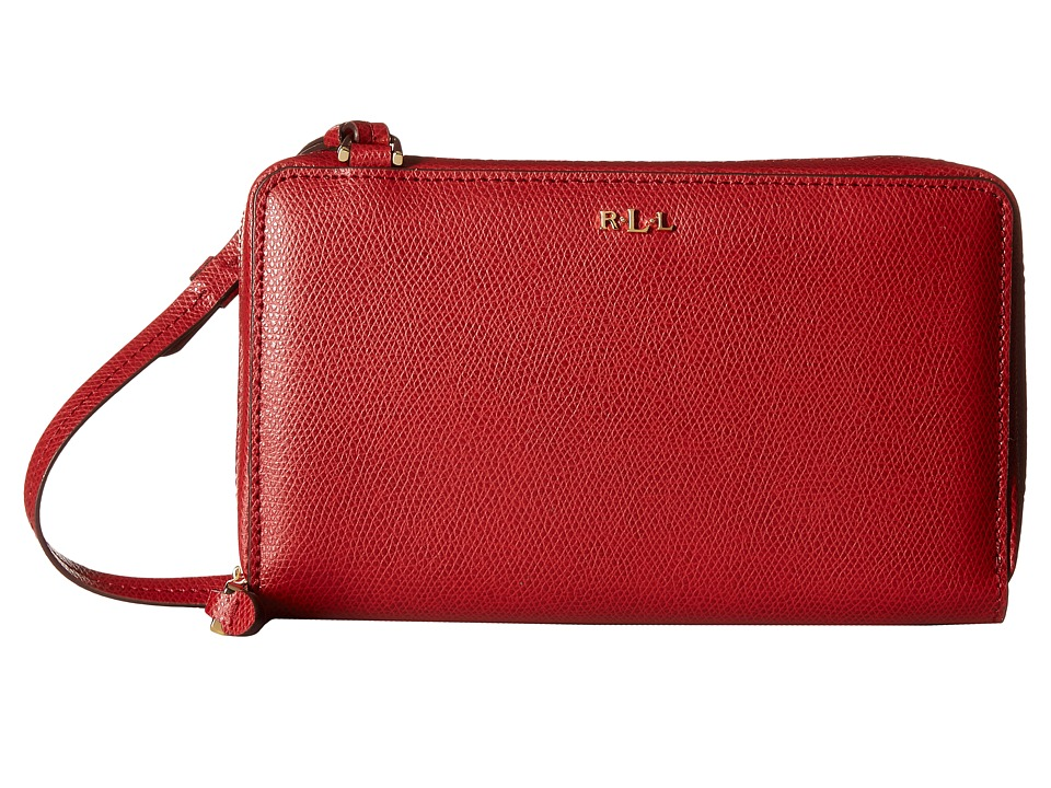 LAUREN Ralph Lauren - Whitby Multifunction Crossbody (Fall Red) Cross Body Handbags
