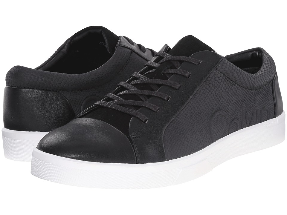 Calvin Klein - Igor (Black/Black Leather/Smooth) Men's Lace up casual Shoes
