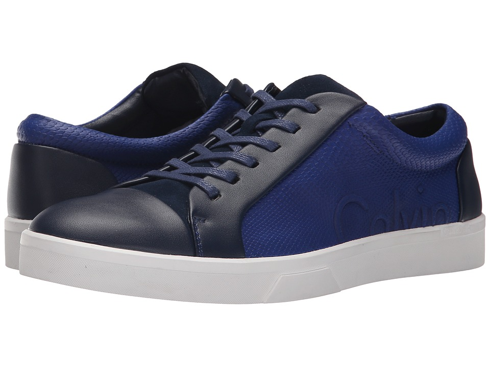 Calvin Klein - Igor (Dark Blue/Dark Navy Leather/Smooth) Men's Lace up casual Shoes