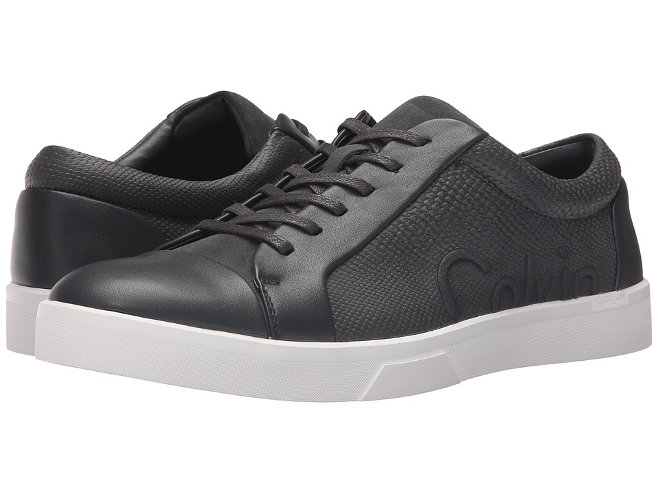 Calvin Klein - Igor (Dark Grey/Dark Grey Leather/Smooth) Men's Lace up casual Shoes