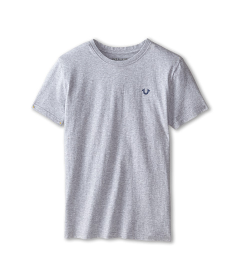 True Religion Kids - Branded Logo Tee (Big Kids) (Heather Grey) Boy