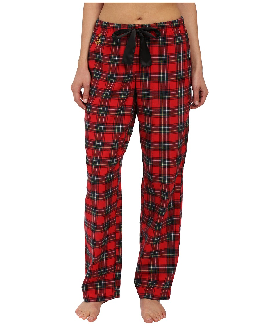 LAUREN by Ralph Lauren - Brushed Twill Separate Pants (Anderson Plaid Holiday Red Multi) Women's Pajama